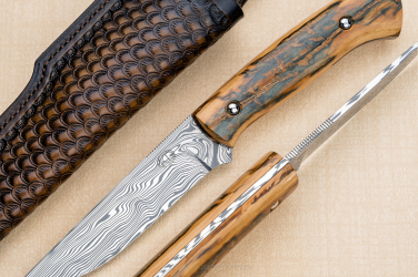 NÓŻ MYŚLIWSKI CLASSIC HUNTER 1 MAMMOTH DAMASTEEL